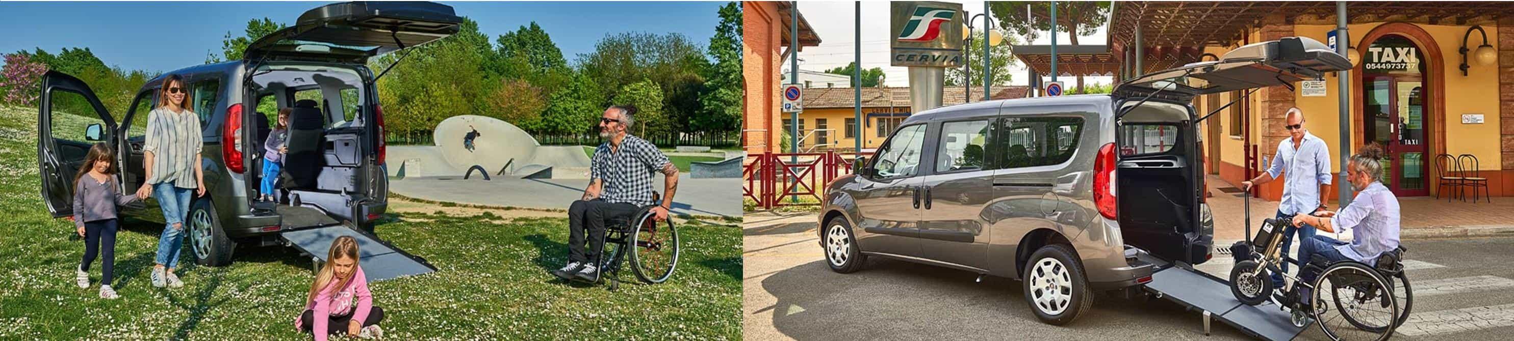 Allestimento disabili su Doblò Fiat Professional