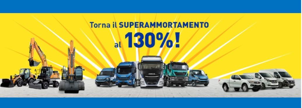 2019: Rinnovato super-ammortamento 130% anche per acquisto veicoli nuovi.