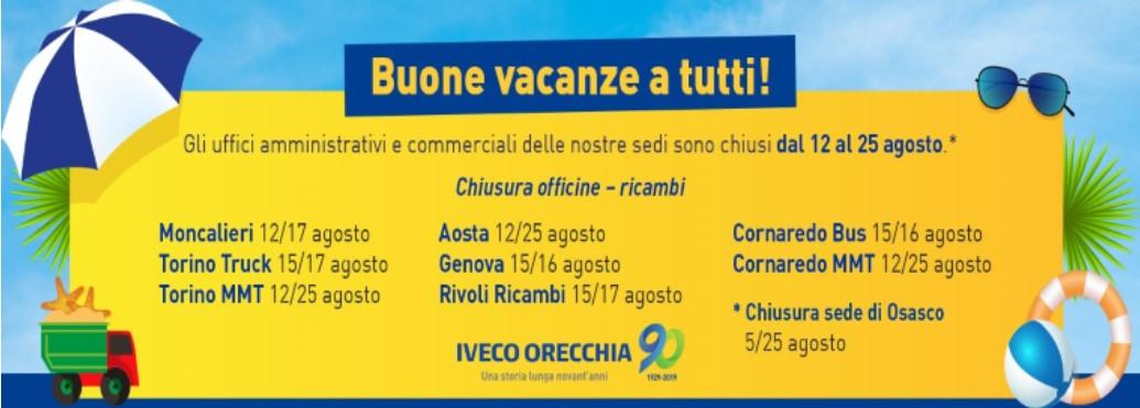 Buone vacanze da Iveco Orecchia!