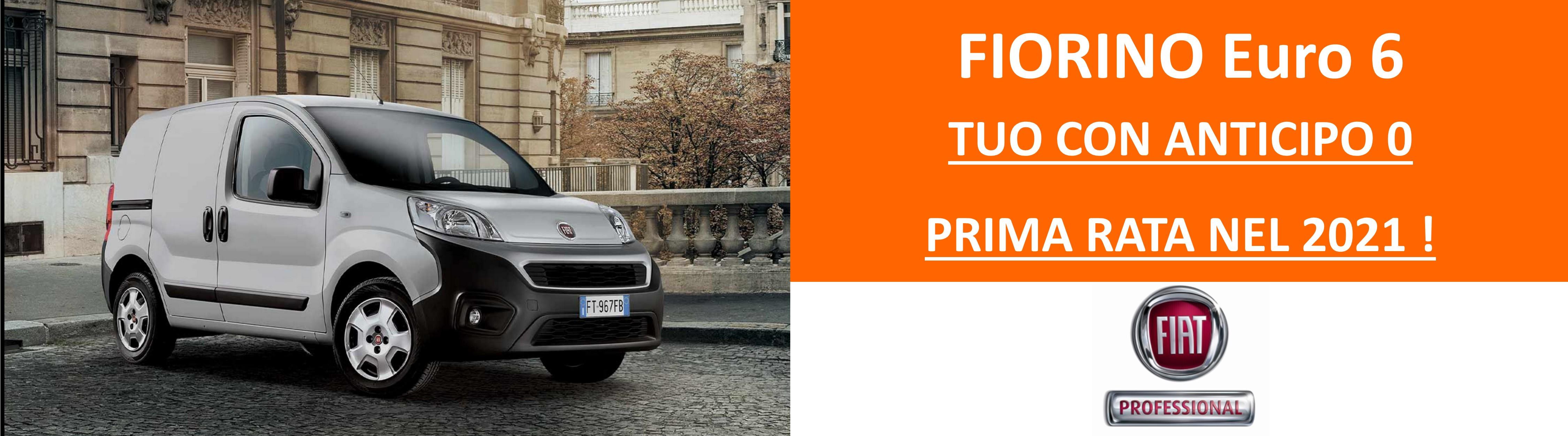 FIORINO Fiat Professional: anticipo Zero e prima rata nel 2021!