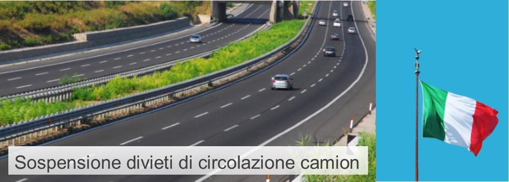 Ponte 2 Giugno: sospensione dei divieti di circolazione camion