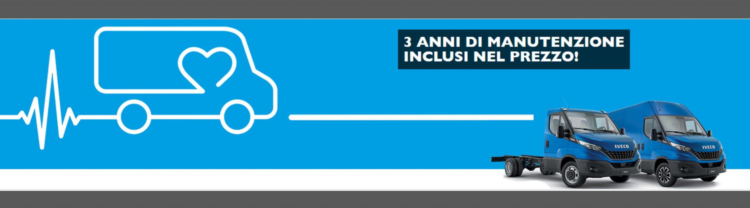 IVECO DAILY CON 3 ANNI DI MANUTENZIONE INCLUSI NEL PREZZO!