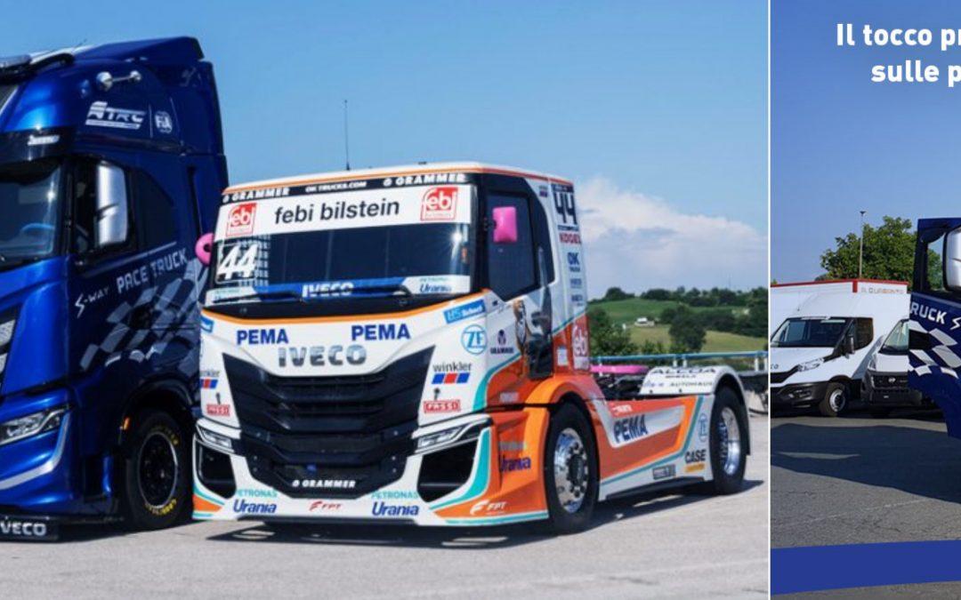 Un IVECO S-WAY NP è pace truck all'European Truck Racing Championship (personalizzato con il contributo della nostra carrozzeria di Moncalieri!)!
